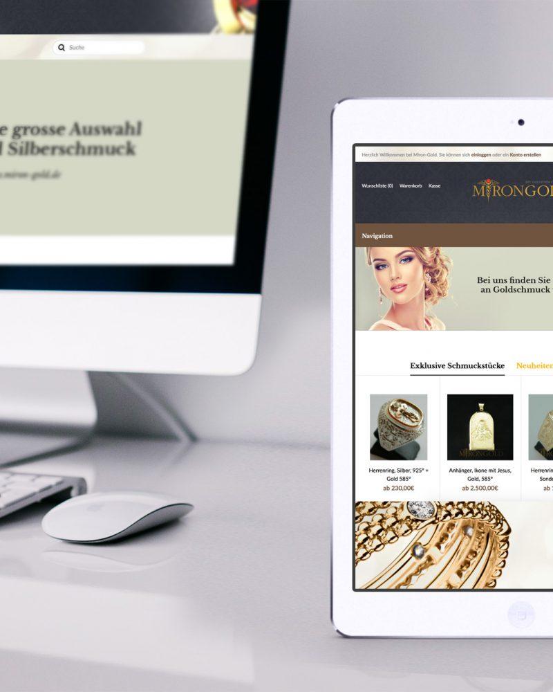 Responsive Online-Shop bestellen