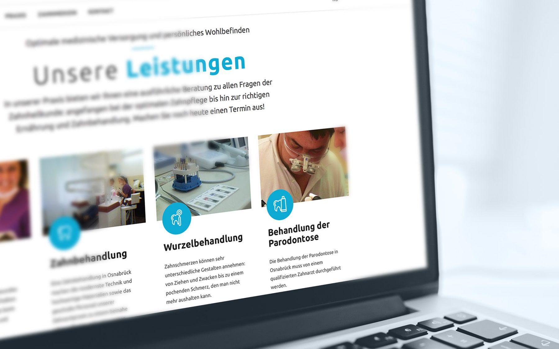 Zahnarzt Osnabrück Webseitenerstellung