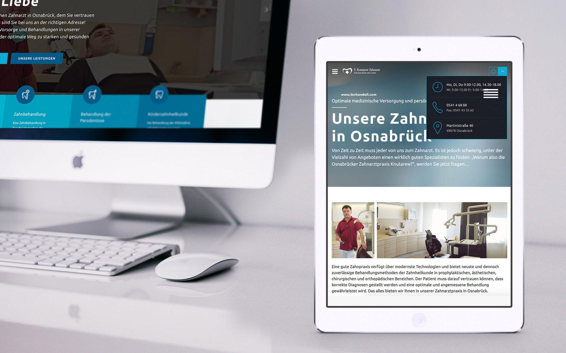 Zahnarzt Osnabrück Website erstellen